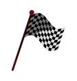 racing flag flat shadow vector image vector image