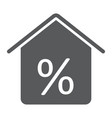 real estate business glyph icon real estate vector image vector image