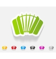 realistic design element accordion vector image vector image