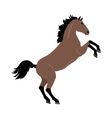 Rearing Sorrel Horse in Flat Design vector image vector image