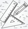 ruler angle and pencill thin line design ang