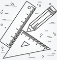 Ruler angle and pencill thin line design Ruler ang vector image vector image