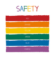 Safety Color Tone vector image