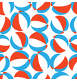 Seamless pattern with red white and blue beach vector image vector image