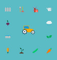 set of harvest icons flat style symbols with vector image vector image