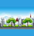 set of urban landscape scene vector image vector image