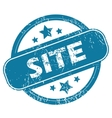 SITE round stamp vector image vector image