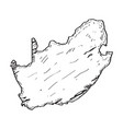 sketch of a map of south africa vector image vector image