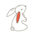 Small cute cartoon bunny vector image