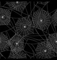 spider web silhouette halloween seamless pattern vector image vector image