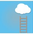 staircase into the clouds vector image vector image