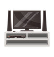 television set house interior icon vector image