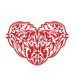 valentines hearts white floral vector image vector image