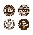 Vintage pizza logo label badge set vector image