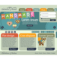 Web design elements in retro style shades of green vector image vector image