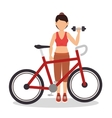 woman athlete avatar fitness sport vector image