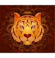 Tiger as symbol for year 2010 vector image