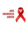AIDS Awareness Ribbon vector image