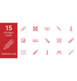 15 temperature icons vector image vector image