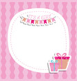 bagirl shower invitation card with gift box vector image vector image