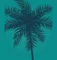 beautifil palm tree leaf silhouette backgroun vector image vector image