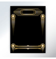 beautiful art deco techno golden black page vector image vector image