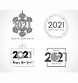 big collection 2021 happy new year signs vector image
