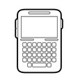 blank screen cellphone with buttons icon image vector image