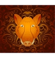 Boar pig as symbol for year 2019 vector image vector image