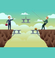 business concept teamwork vector image vector image