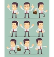 Businessman in motion on background Collection vector image vector image
