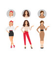 casual fashion women set vector image vector image