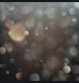 Christmas decorative background with bokeh lights vector image