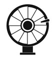 color lucky wheel icon simple style vector image
