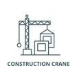 construction crane line icon construction vector image vector image