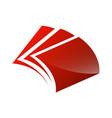 creative open book logo book color logo school vector image