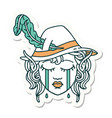 crying elf bard character face sticker