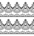 decorative seamless lace pattern - lace vector image vector image