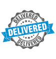 delivered stamp sign seal vector image vector image