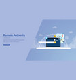 domain authority for website template or landing vector image vector image