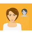 Face identification vector image vector image