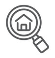 find real estate company line icon real estate vector image vector image