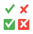 flat check mark icons for web and mobile apps red vector image