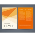Flyer brochure design template vector image
