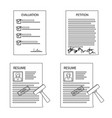 form and document icon vector image
