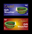 gift voucher template for diwali festival vector image