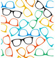 Glasses Hipster Style Background Pattern vector image