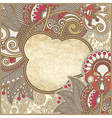 grunge vintage template with ornamental floral pat vector image vector image