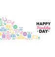 happy friendship day fun party icon web banner vector image vector image