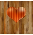 Heart shaped Valentines Day symbol EPS8 vector image vector image